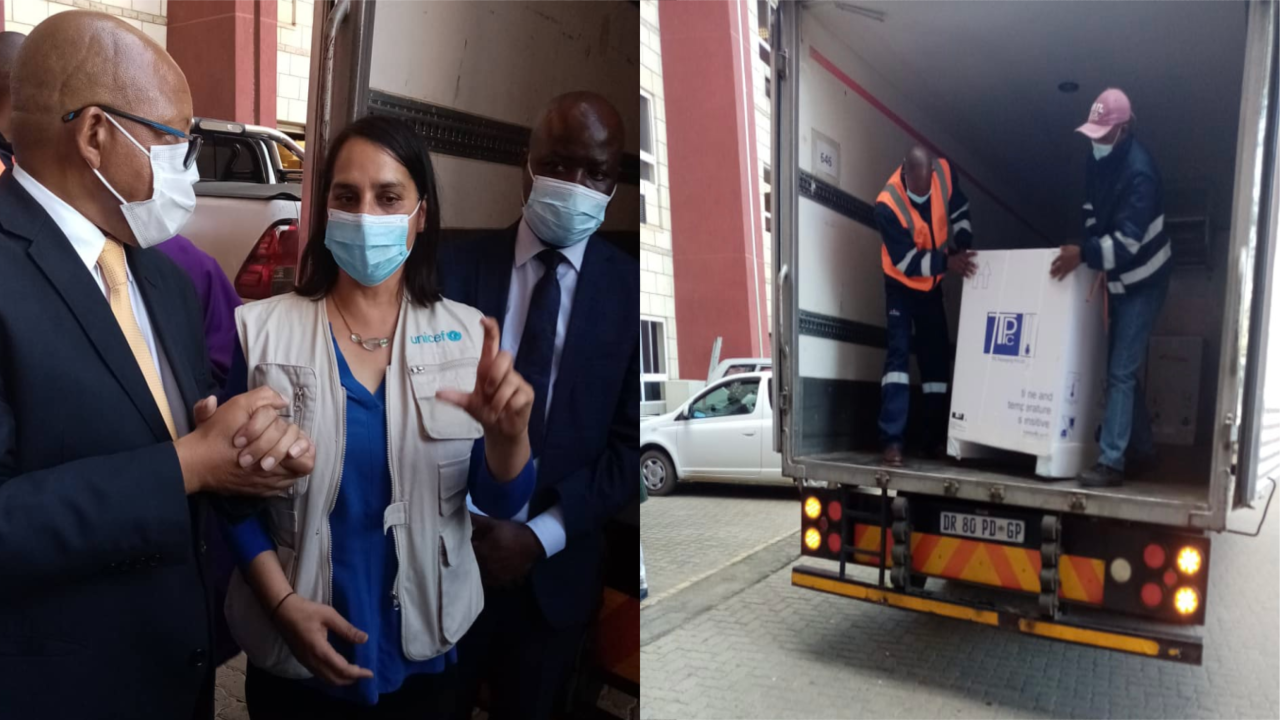 Lesotho receives its first shipment of the COVID-19 Vaccine