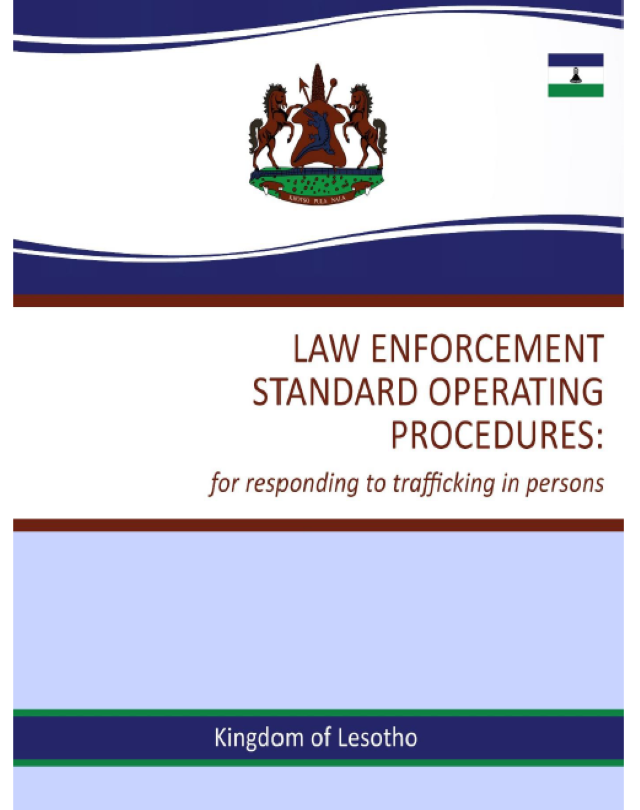 Law enforcement standard operating procedures: for responding to trafficking in persons